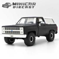 ミニカー 1/24 箱入り 1980 CHEVY BLAZER マットブラック シェビー ブレイザー アメ車 jada
