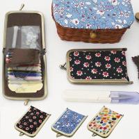 MARY ミニソーイングセットge-k950  少しレトロな雰囲気のファブリックを使用したお裁縫セッ...