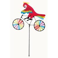 ウィンドミル 風車 ガーデニング 飾り ディスプレイ オウム 自転車 アウトドア 目印 鳥よけ 防水...