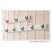 ウッデンフック:3連フック ウォールフック キーフック 壁掛け 壁金具引っ掛け 鍵 収納 木製 イン...