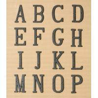 アイアンアルファベット(3コセット) A 〜P アルファベット オブジェ 表札 パーツ 看板 サイン...