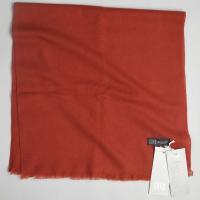 モンゴルからやって来た GOYO 本場カシミヤ100%のマフラー・ストール 使いやすい 織り物で薄手の大判サイズ レンガ