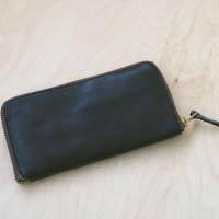 栃木レザー  財布 長財布 ヌメ革 日本製 ラウンド 09 ブラック 新品本物 さいふ サイフ ぬめ革フルベジタブルタンニングレザー
