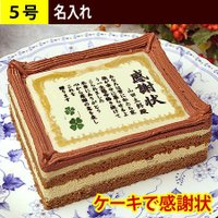 ユーモアある感謝状そっくりのケーキをお誕生日・母の日・父の日・敬老の日に。お気に入りの写真をケーキに...