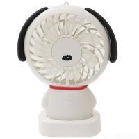 7月末入荷予定分/スヌーピー 充電式 携帯型ファン ハンディファン 扇風機/ホワイト 880152/CR51174  パール