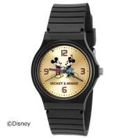 *。.+:*。DISNEY ウォッチ*。.+:*。  ☆ミッキー&ミニー 腕時計☆  ブラックベルト...