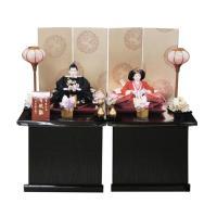 雛人形 瑞鳳刺繍 収納飾り 二人飾り 間口65cm