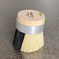 AKADA Kitchen 2種の毛と斜めカットで隅まできれいキッチンブラシ 豚毛/パキン(植物繊維) 東濃ひのき