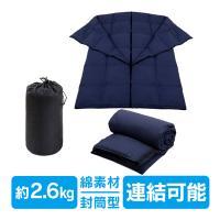 ■フルクローズからフルオープンまでできる封筒型寝袋です ■寝袋の中身にはダウン400gが含まれていま...