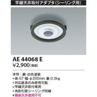 品番:AE44068E 品名:竿縁天井取付アダプタ 価格:2400円 メインスペック  器具ジャンル...