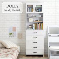 木目調のホワイトカラーがランドリー周りの雰囲気を明るく清潔感あふれる場所にしてくれる「DOLLY(ド...