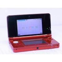 ●携帯ゲーム機 ニンテンドー3DS フレアレッド  [付属品] スタイラスが付属しています。  [商...