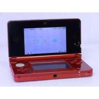 ●携帯ゲーム機 ニンテンドー3DS フレアレッド  [付属品] 充電台、タッチペン、ARカード、説明...