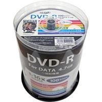 HIDISC データ用DVD-R 100枚スピンドルインクジェットプリンタ対応!16倍速!お得なデー...