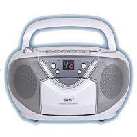 EAST イースト コンパクト AM/FMステレオ カセット CDラジカセ CD-39-W(ホワイト...
