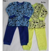 320e82db6e493 子ども服 男の子 男児 長袖 パジャマ ルームウェア キッズ かぶり フリース 暖か ライム ブルー ampersand ...