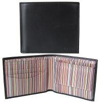 大人気の二つ折り財布が入荷しました。 シンプルなブラックの本体にポールスミスのアイコンであるマルチカ...