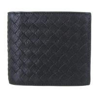 落ち着きのあるブラックとグレーのバイカラー二つ折り財布。  ■素材 : 牛革(カーフ) ■カラー :...