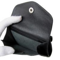 イルビゾンテ 財布 二つ折り財布 カウハイドレザー ブラック シルバー C0424 P 153N