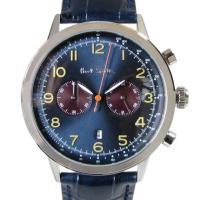 ダークブルーカラーが知的な印象のクロノグラフ腕時計  [型番] P10012 [サイズ(約)] ケー...