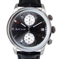 ブロックのような特徴的なバーインデックスのクロノグラフ腕時計  [型番] P10031 [サイズ(約...