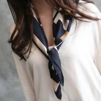 スカーフ レディース 夏 50代 40代 ファッション  カラー: Navy,Light-Brown...