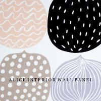 北欧 壁 ファブリックパネル アリス marimekko KOMPOTTI 40×22cm 単品販売 マリメッコ コンポッティ ファブリックボード alice55 06