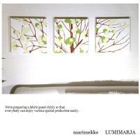 マリメッコ marimekko LUMIMARJA ファブリックパネル 30×30cm3枚セット グリーン