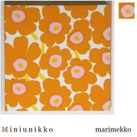 単品 ファブリックパネル marimekko miniunikko 30×30cm 単品販売 オレンジ×ホワイト 北欧 おしゃれインテリア ミニウニッコ30オレンジ