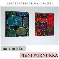 【送料無料】 ファブリックパネル アリス marimekko PIENI PURNUKKA 30×30cm 2枚セット 北欧 ピエニプルヌッカ マリメッコ ファブリックパネル|alice55