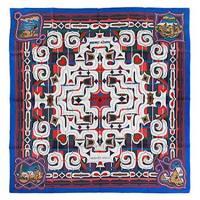HERMES エルメス  カレ シルクツイル スカーフ 90x90 シルク100% ESPRIT AINOU ブルー/ホワイト/グレー 25932