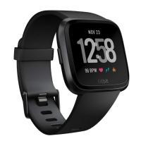 アウトレット特価 Fitbit Versa Fitbit フィットビット スマートウォッチ Versa iOS/android対応 ブラック Black/Black Aluminium L/Sサイズ