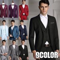 ビジネススーツ suit3ピーススーツ 通勤スーツ スリムスーツ 入学式 成人式 就職 メンズ カジ...