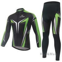 サイクルジャージ 上下セット 自転車服 サイクリング メンズ レディース 3Dパッドパンツ 長袖 通...