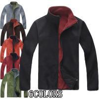 メンズ マウンテンジャケット クラシック シンプル フリースジャケット 登山ウェア FLEECE 暖...