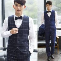 ジレベスト メンズ 紳士服 チェック 格子 シャツに似合う スーツベスト 韓版 結婚式 パーティー ...