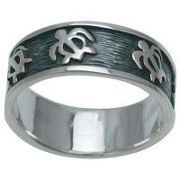 ハワイアンジュエリー リング 指輪 シルバー925 ペトログリフ ホヌリング
