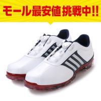 アディダス メンズ ゴルフ ダイヤル式 ゴルフシューズ ピュアメタル ボア プラス ソフトスパイク ホワイト×レッド WI941 adidas