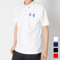 アンダーアーマー ゴルフ5限定 ゴルフウェア ロゴ 半袖ポロシャツ UA Mid Logo Polo 1359530  遮熱 涼しい 涼感 メンズ UNDER ARMOUR
