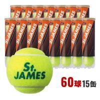 ダンロップ テニスボール セントジェームス St.JAMES 硬式テニス ボール 4球X15缶=60球 STJAMESI4C プレッシャーボール DUNLOP