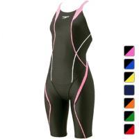 スピード レディース 水泳 競泳水着 FLEX C Wセミワンピースニースキン (SD46H04) SPEEDO