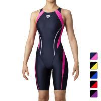 アリーナ レディース 水泳 競泳水着 ハーフスパッツ ARN-0053W 初級 FINA承認 セイフリーバックスパッツ 着やストラップ オールインワン arena arcp15