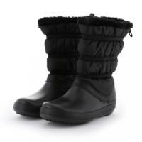クロックス Crocband Winter Boot W 205314 レディース ロングブーツ : ブラック スノーブーツ
