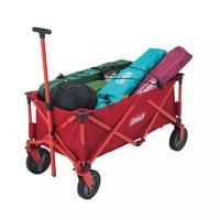 Coleman(コールマン) 多くの荷物を楽に運べる簡単収束型ワゴン ◆大型タイヤでスムース楽々移動...