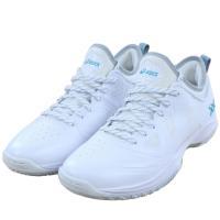 アシックス グライドノヴァ GLIDE NOVA FF 1061A003 メンズ レディース バスケットボール シューズ 2E : ホワイト×ブルー バッシュ 白 asics