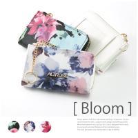 トレンドのミニバッグに忍ばせたい華やかコインケース ◆商品名:【Bloom -ブルーム-】水彩花柄コ...