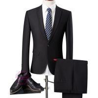 スーツセットアップ スーツ メンズ ビジネススーツ 1ボタン 2ピース 結婚式 フォマール スリム ...