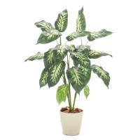 ディフェンバキアプラント (フェイクグリーン 造花樹木 人工観葉植物 0.9m 90cm)
