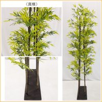黒竹8本立パーテーション210cm (人工竹 造花 インテリア 和風 庭 フェイクグリーン バンブー)