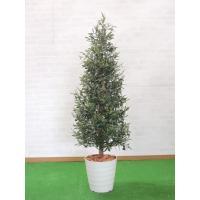 オリーブツリー 150cm (グリーン 樹木 人工観葉植物 インテリア 造花 1.5m)